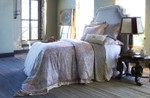 Lili Alessandra Mackie Duvet Cover - Taupe with Blush