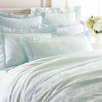 Luxe Chinois Damask Pearl Blue Duvet Cover