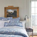 Luxe Chinois Damask Delphinium Duvet Cover