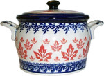 Boleslawiec Polish Pottery Bean Pot Baker - Maple Leaf