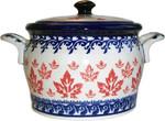 Boleslawiec Polish Pottery Bean Pot Baker - Maple Leaf
