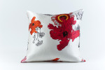 Ann Gish Daisy Silk Pillow - White