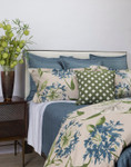 Ann Gish Floral Blue Duvet Cover Set