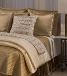 Ann Gish Monaco French Knot Coverlet - Ivory/Sand