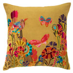 Pine Cone Hill Botanica Embroidered Square Pillow