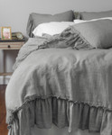 Amity Home Caprice Duvet Cover - Grey Chambray