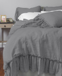 Amity Home Caprice Duvet Cover - Neutral Grey