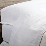 Pom Pom at Home Charlie Linen Pillowcases - White