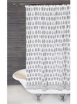 Pom Pom at Home Kiara Hand Blocked Shower Curtain - White/Black