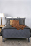 Ann Gish Flannel Coverlet Set - Grey