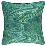 Fresh America Malachite Indoor/Outdoor Decorative Pillow
