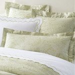 Luxe Primavera Paisley Verde Decorative Pillow