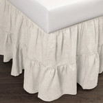 Amity Home Caprice Linen Bed Skirt - Ivory