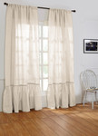 Amity Home Caprice Linen Curtain - Ivory