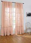 Amity Home Caprice Linen Curtain - Petal Pink