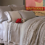 Amity Home Ruched Quilt - Grey