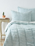 Amity Home Ruched Quilt - Sea Glass