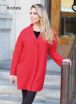 Venario Wanda Boiled Wool Coat - Red