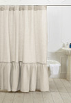 Amity Home Caprice Linen Shower Curtain - Ivory