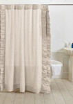 Amity Home Basillo Linen Shower Curtain - Ivory