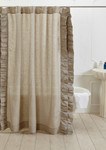 Amity Home Basillo Linen Shower Curtain - Natural