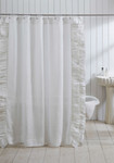 Amity Home Basillo Linen Shower Curtain - White