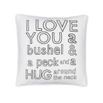 Levtex BI Love You a Bushel Square Pillow