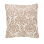 Pine Cone Hill Damask Velvet Embroidered Sand Decorative Pillow