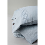 Amity Home Kyler Linen Pillow Sham - Pearl Blue