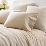 Pine Cone Hill Chambray Flannel Oatmeal Sheet Set