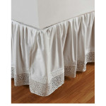 Amity Home Cutwork Bed Skirt - White