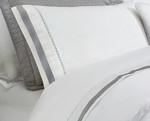 DownTown Company Chelsea Sheet Set - White/Grey