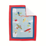 Amity Home Fly Away Blue Baby Quilt