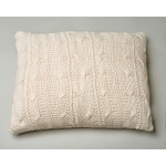 Amity Home Micah Knitted Dutch Euro Pillow - Natural