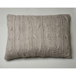 Amity Home Micah Knitted Dutch Euro Pillow - Grey