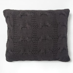 Amity Home Micah Knitted Dutch Euro Pillow - Steel Blue