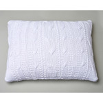 Amity Home Micah Knitted Dutch Euro Pillow - White