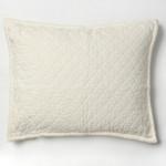 Amity Home Dale Linen Dutch Euro Pillow - Ivory