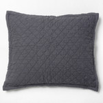 Amity Home Dale Linen Dutch Euro Pillow - Steel Blue