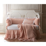 Amity Home Caprice Linen Toddler Quilt - Petal Pink