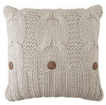 Amity Home Micah Cable Knit Pillow - Grey