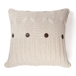 Amity Home Micah Cable Knit Pillow - Natural