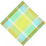 Jacquard Weave Cotton Napkin - Anais Green