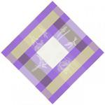 Jacquard Weave Cotton Napkin - Coquelicot Purple