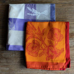 Jacquard Weave Cotton Napkin - Coquelicot Orange