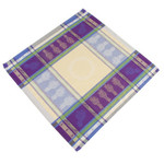 Jacquard Weave Cotton Napkin - Lavandine Purple/Natural