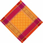 Jacquard Weave Cotton Napkin - Prodige Orange