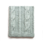 Amity Home Raj Cable Knit Throw - Misty Blue