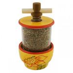 Provence Ceramic Herb Grinder - Sunflower