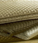Ann Gish Charmeuse Small Diamond Quilted Coverlet